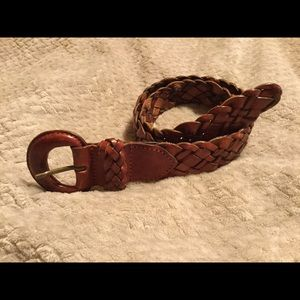 Turkish collection leather braided belt Small